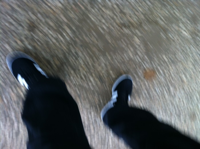 Mijn nieuwe shoeisel perongeluk op de foto.